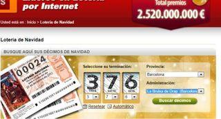 Jugar loteria de navidad 2012