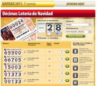 Loteria online de navidad
